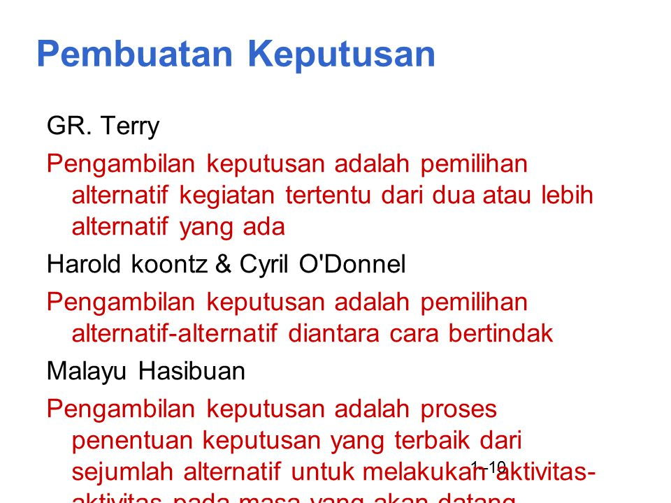 Pembuatan Keputusan GR. Terry