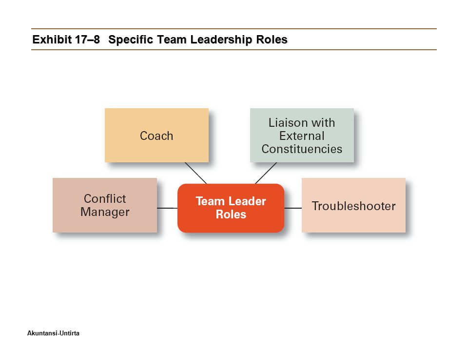 Exhibit 17–8 Specific Team Leadership Roles