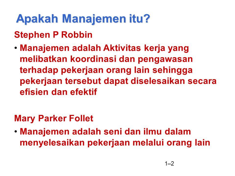 Apakah Manajemen itu Stephen P Robbin