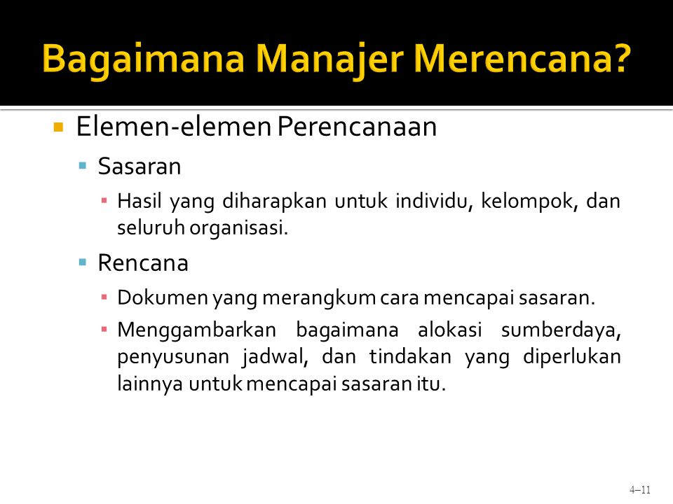 Bagaimana Manajer Merencana