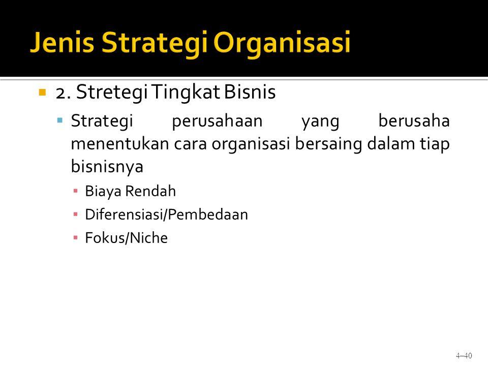Jenis Strategi Organisasi