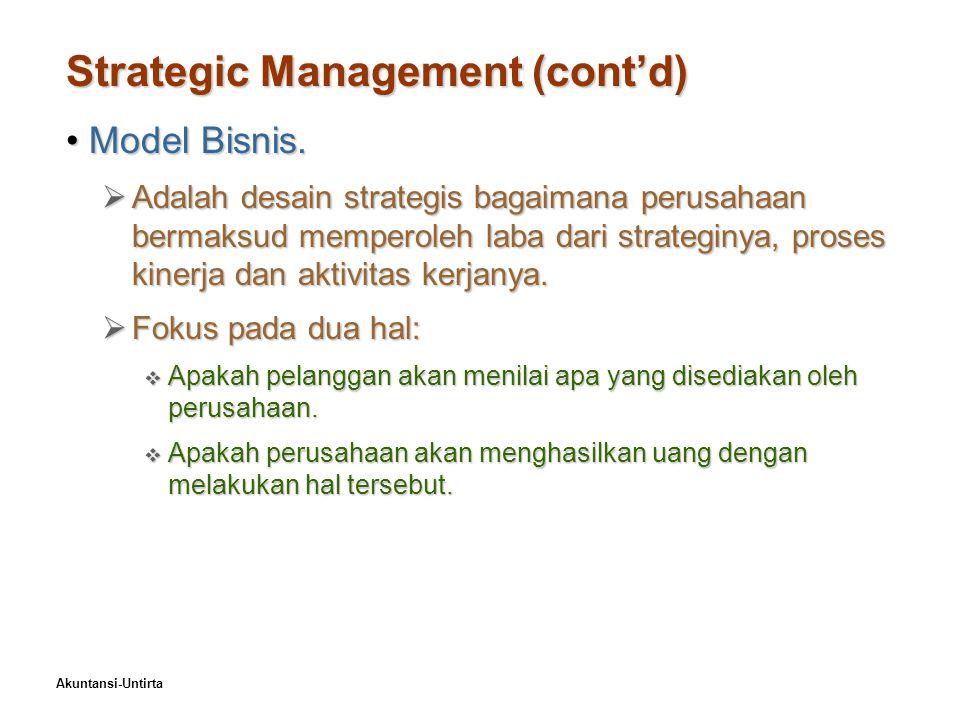 Strategic Management (cont'd)