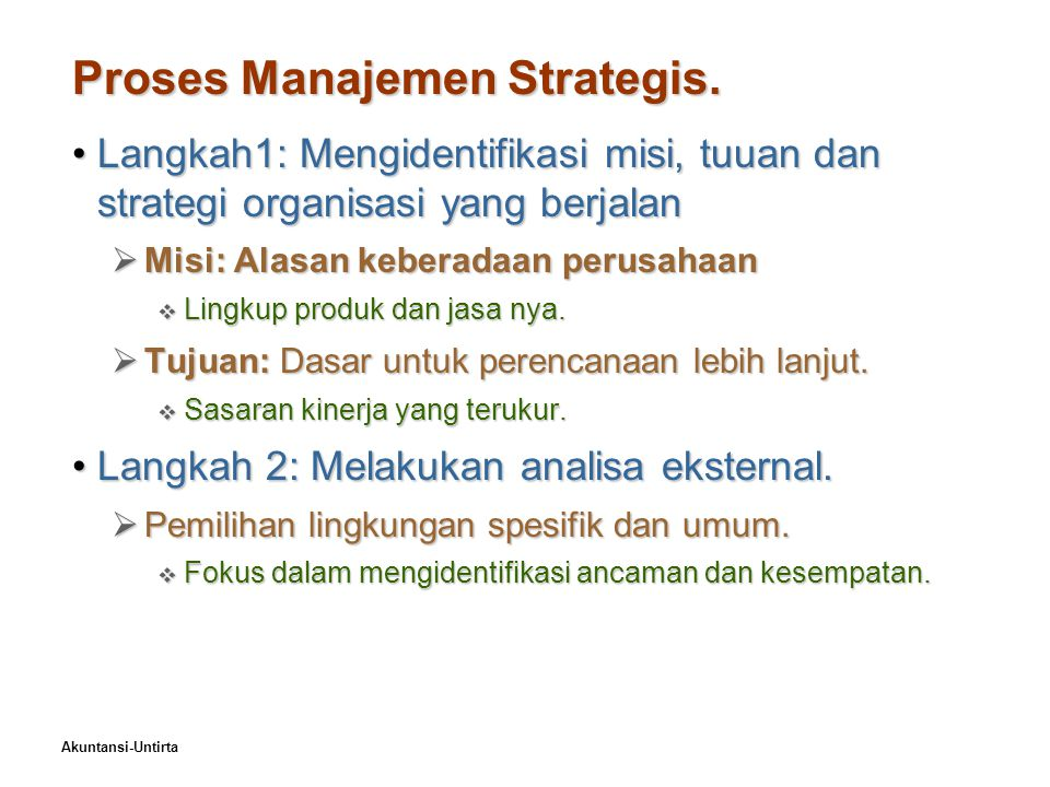 Proses Manajemen Strategis.