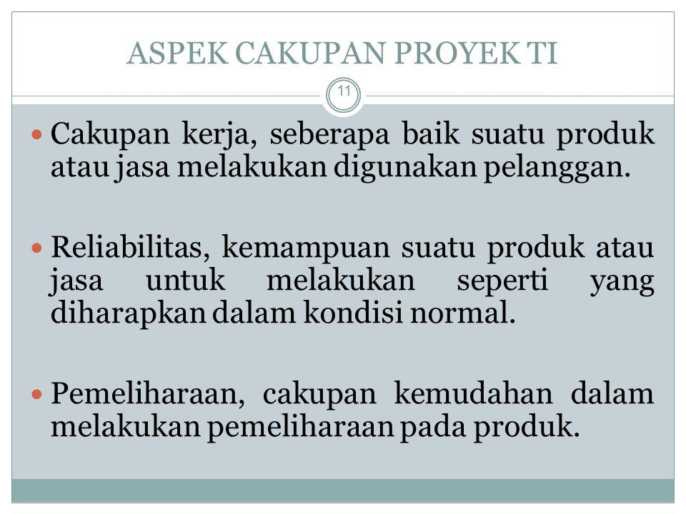ASPEK CAKUPAN PROYEK TI