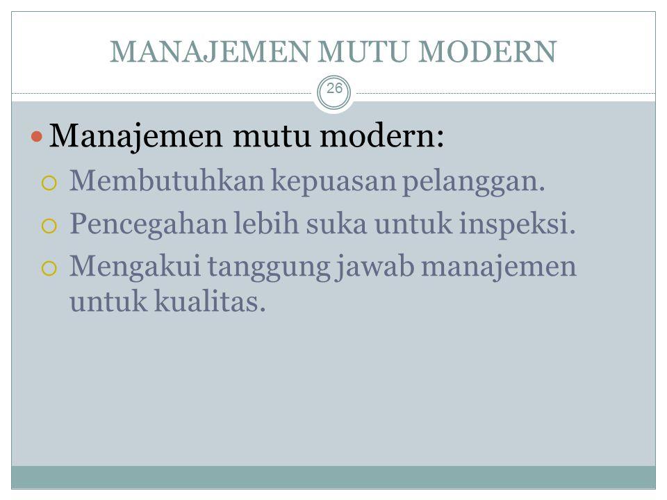 Manajemen mutu modern: