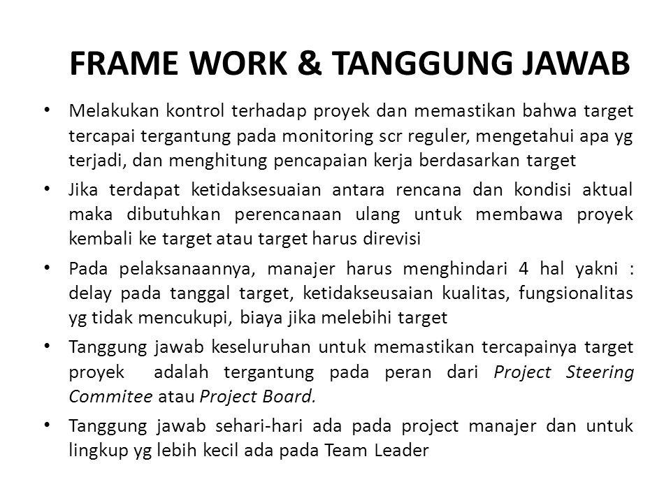 FRAME WORK & TANGGUNG JAWAB