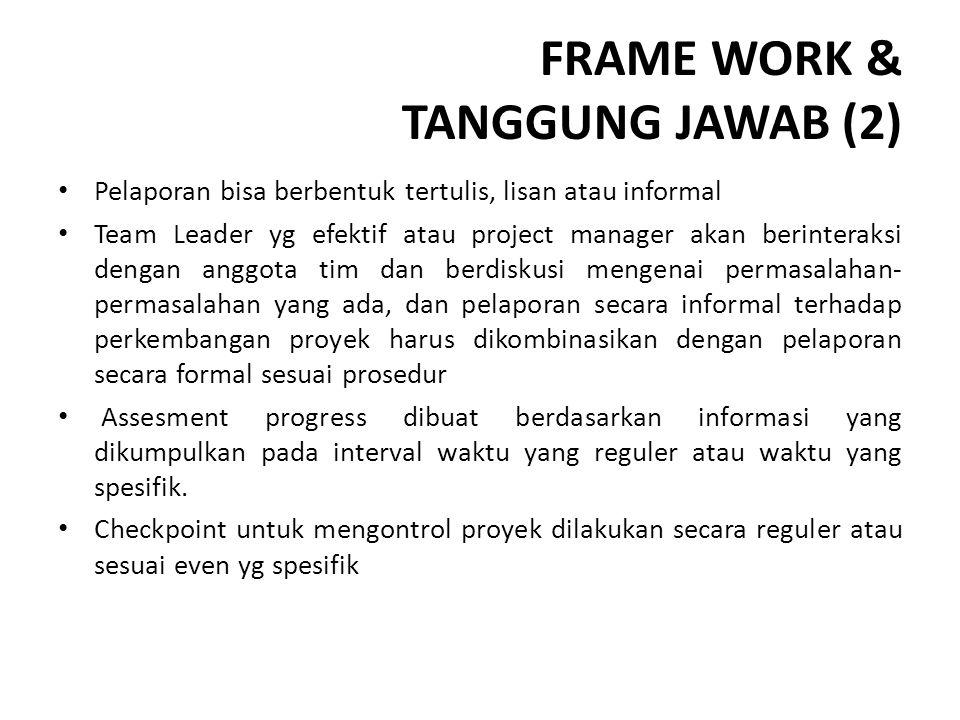 FRAME WORK & TANGGUNG JAWAB (2)