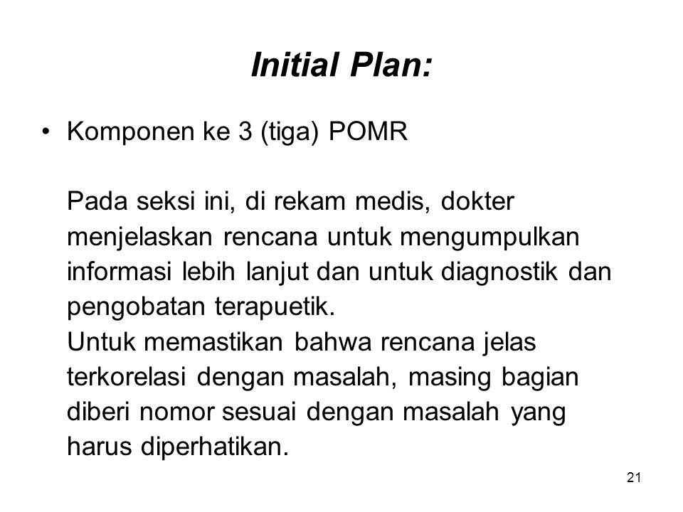 Initial Plan: Komponen ke 3 (tiga) POMR