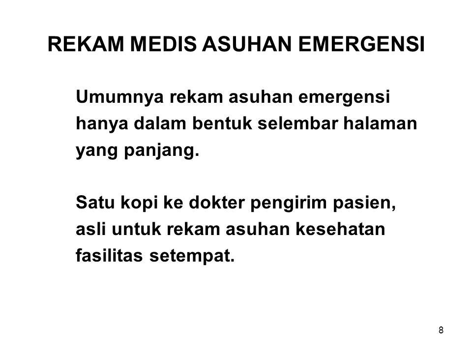 REKAM MEDIS ASUHAN EMERGENSI