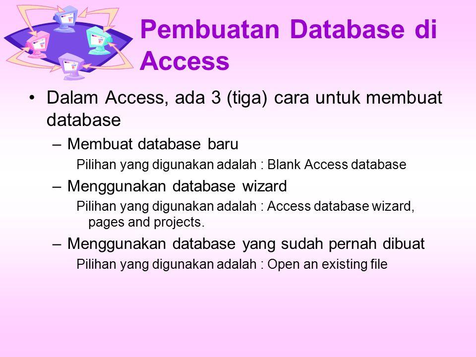 Pembuatan Database di Access