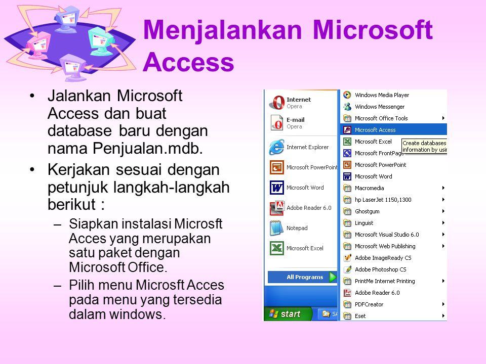 Menjalankan Microsoft Access