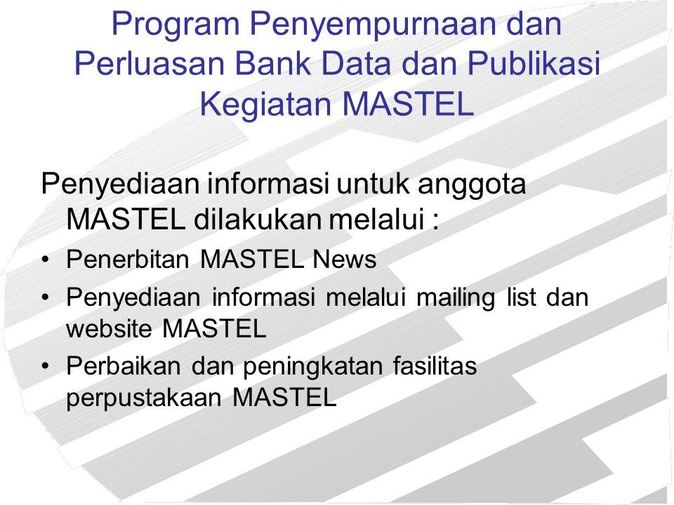 Program Penyempurnaan dan Perluasan Bank Data dan Publikasi Kegiatan MASTEL