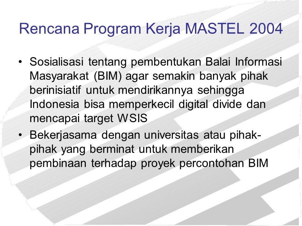 Rencana Program Kerja MASTEL 2004
