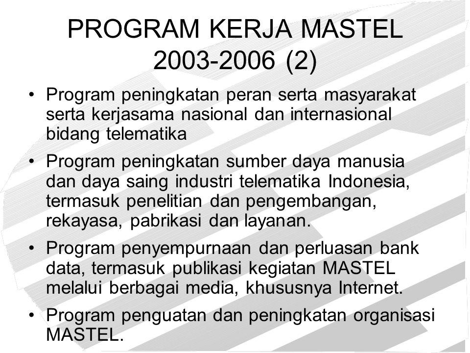 PROGRAM KERJA MASTEL 2003-2006 (2)