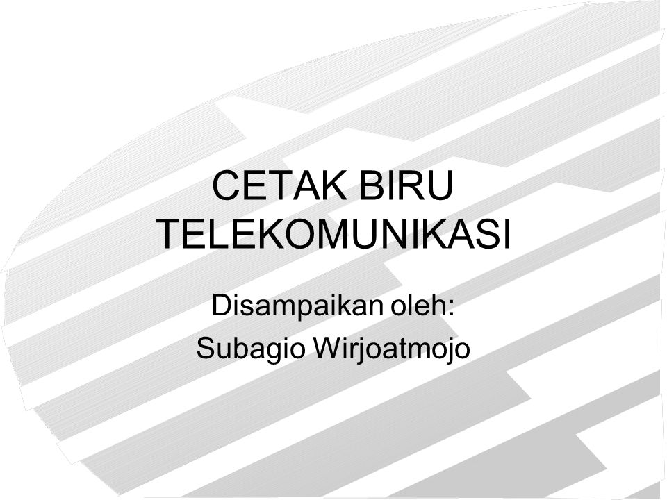 CETAK BIRU TELEKOMUNIKASI
