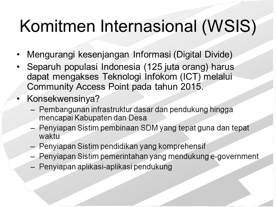 Komitmen Internasional (WSIS)