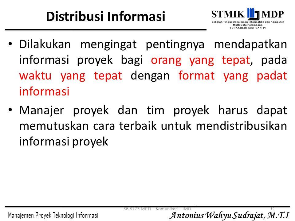 SE 3773 MPTI – Komunikasi - IMD