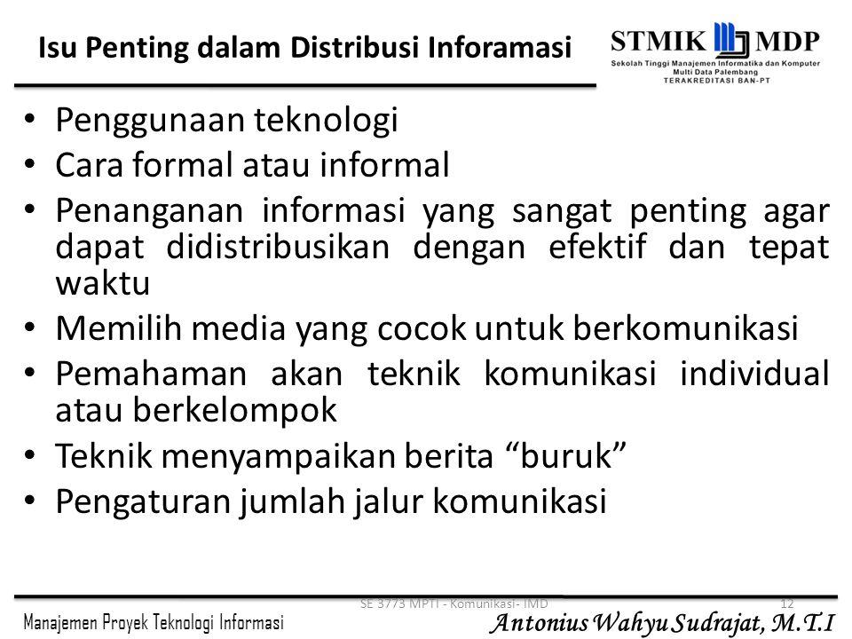 Isu Penting dalam Distribusi Inforamasi