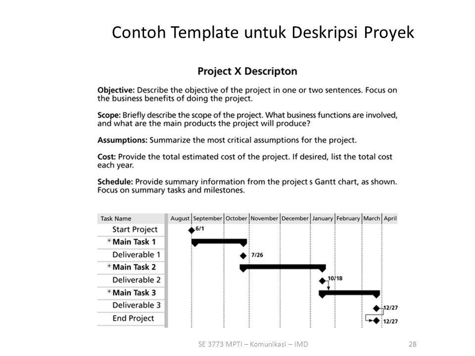 Contoh Template untuk Deskripsi Proyek