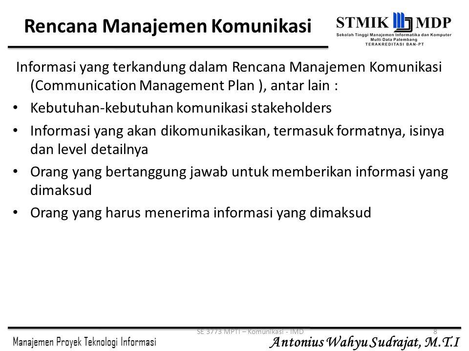 Rencana Manajemen Komunikasi