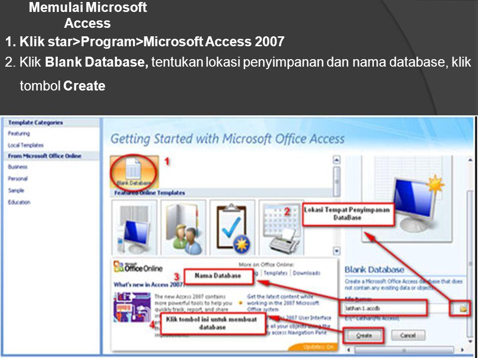 Memulai Microsoft Access