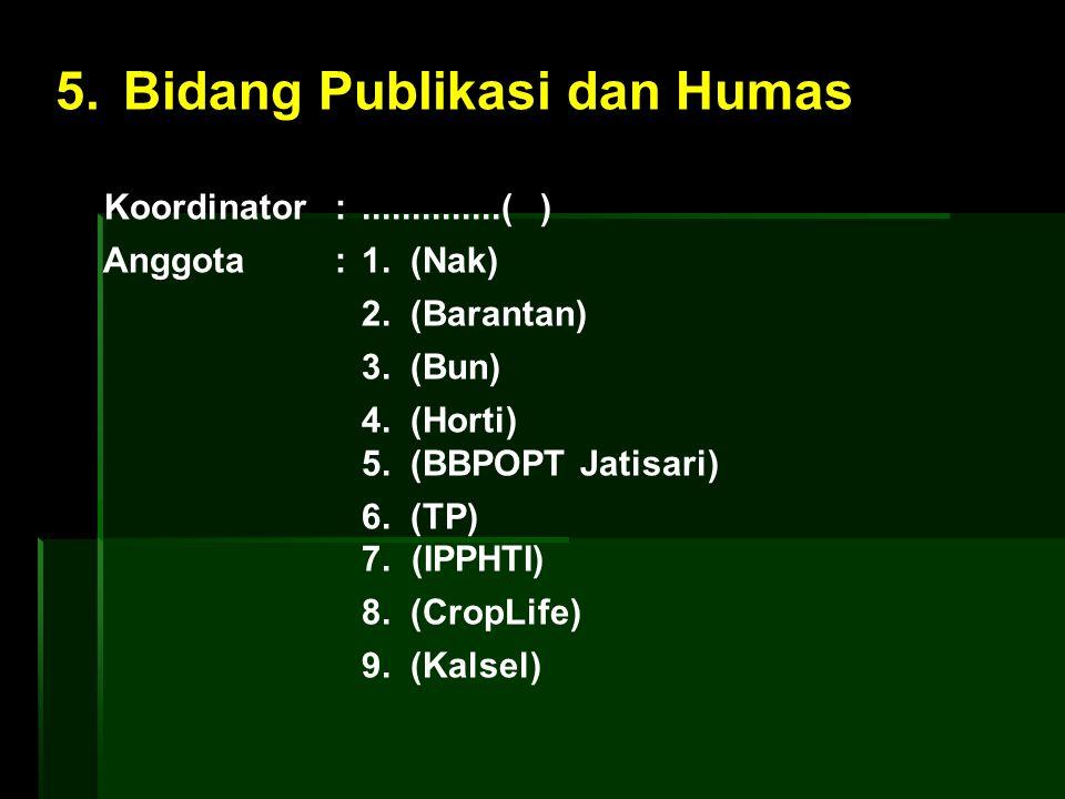 5. Bidang Publikasi dan Humas