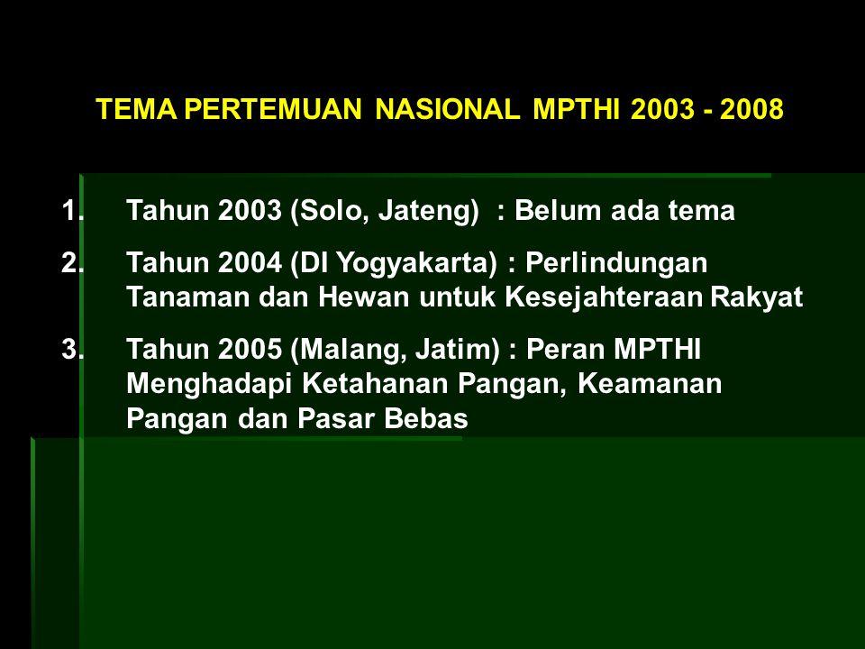 TEMA PERTEMUAN NASIONAL MPTHI 2003 - 2008