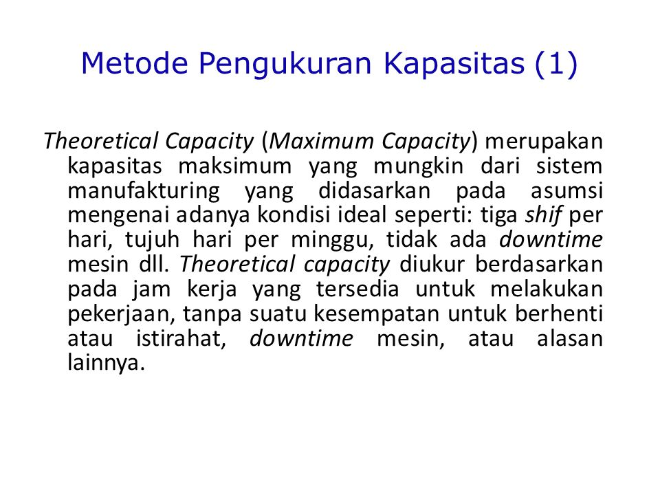 Metode Pengukuran Kapasitas (1)