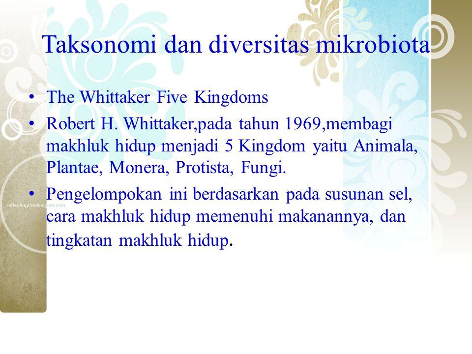 Taksonomi dan diversitas mikrobiota