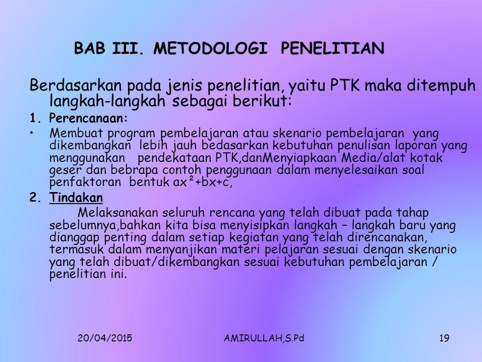 BAB III. METODOLOGI PENELITIAN