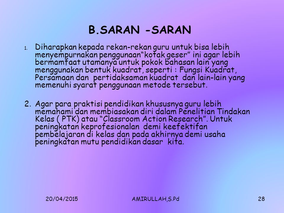 B.SARAN -SARAN