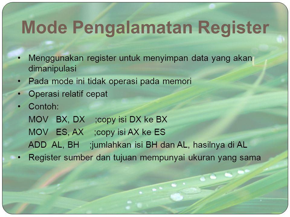 Mode Pengalamatan Register