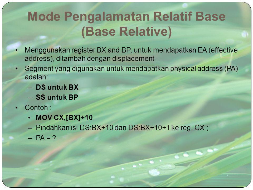 Mode Pengalamatan Relatif Base (Base Relative)