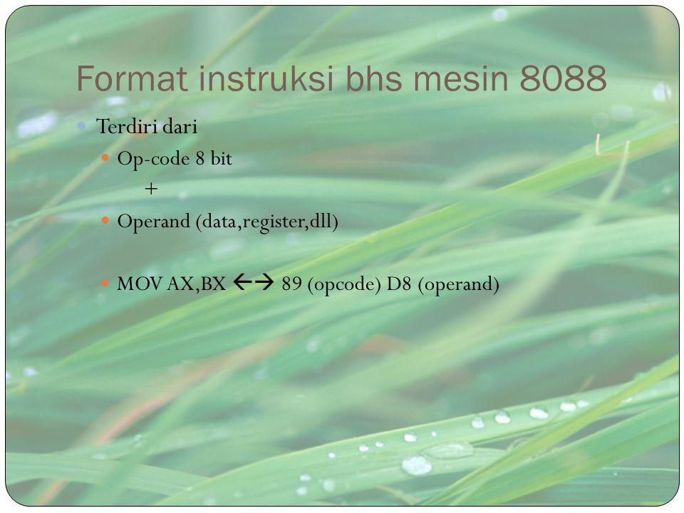 Format instruksi bhs mesin 8088