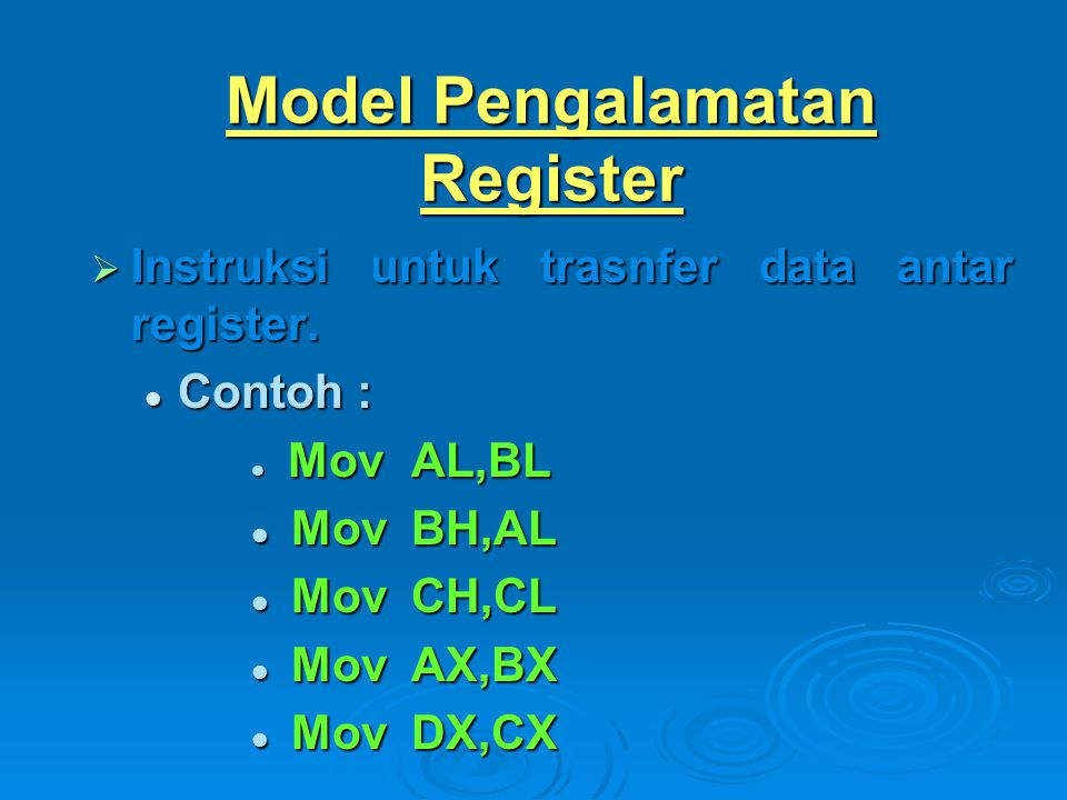 Model Pengalamatan Register