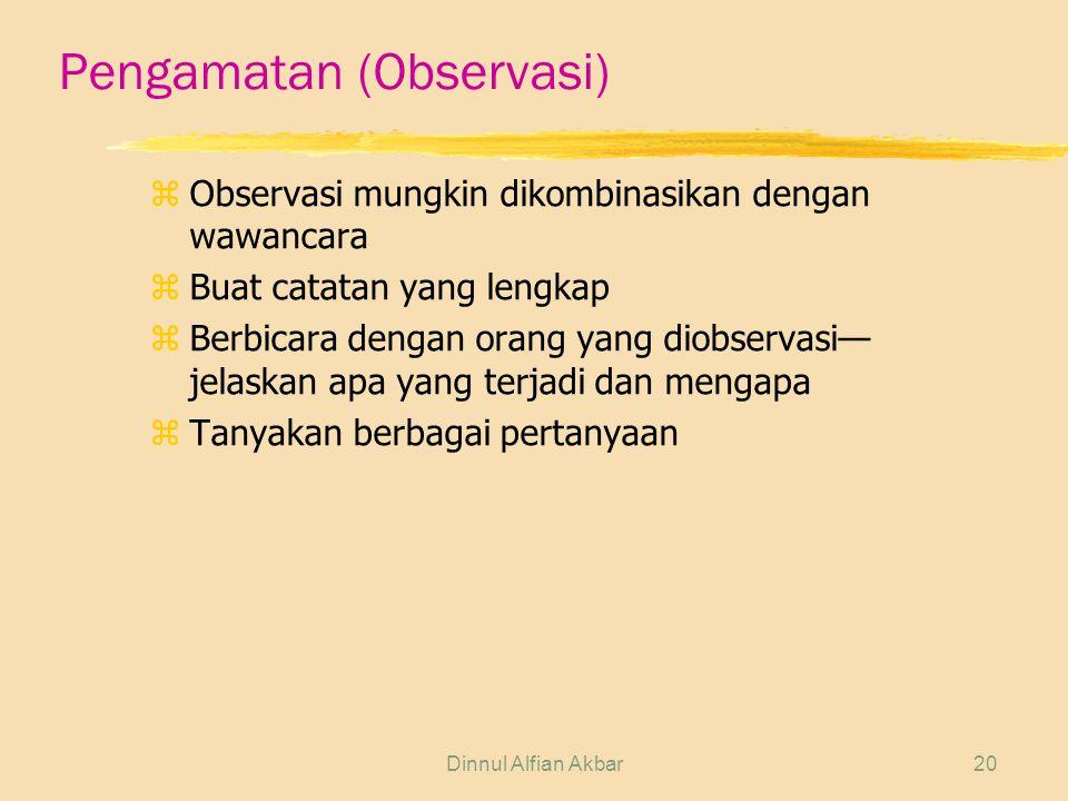 Pengamatan (Observasi)