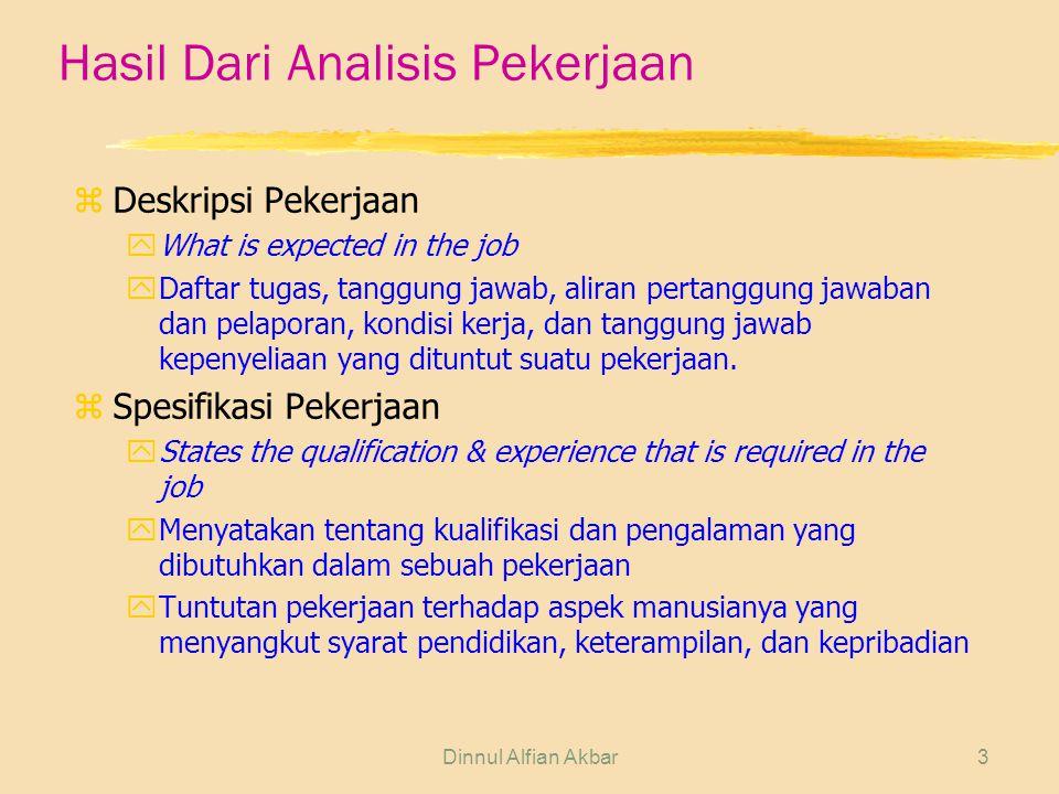 Hasil Dari Analisis Pekerjaan