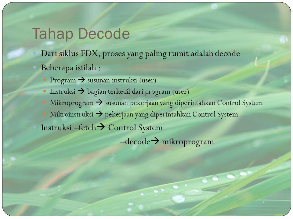 Tahap Decode Dari siklus FDX, proses yang paling rumit adalah decode