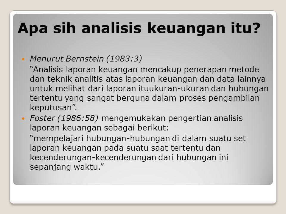 Apa sih analisis keuangan itu