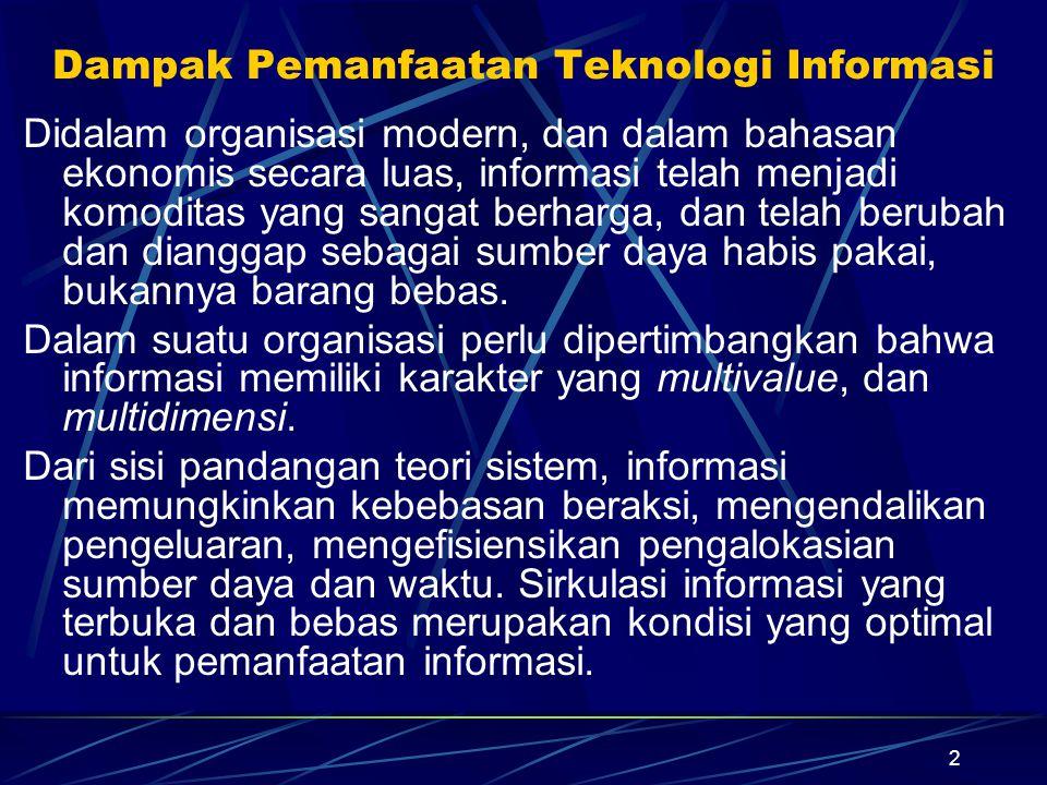 Dampak Pemanfaatan Teknologi Informasi
