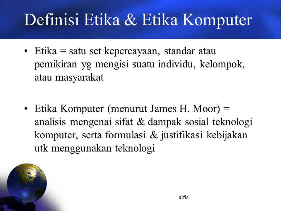 Definisi Etika & Etika Komputer