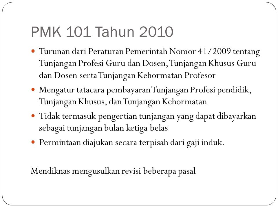PMK 101 Tahun 2010