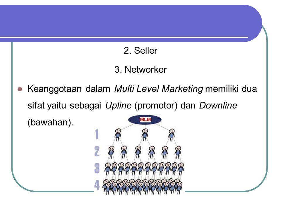2. Seller 3. Networker.
