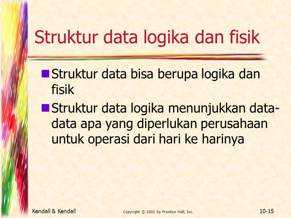 Struktur data logika dan fisik