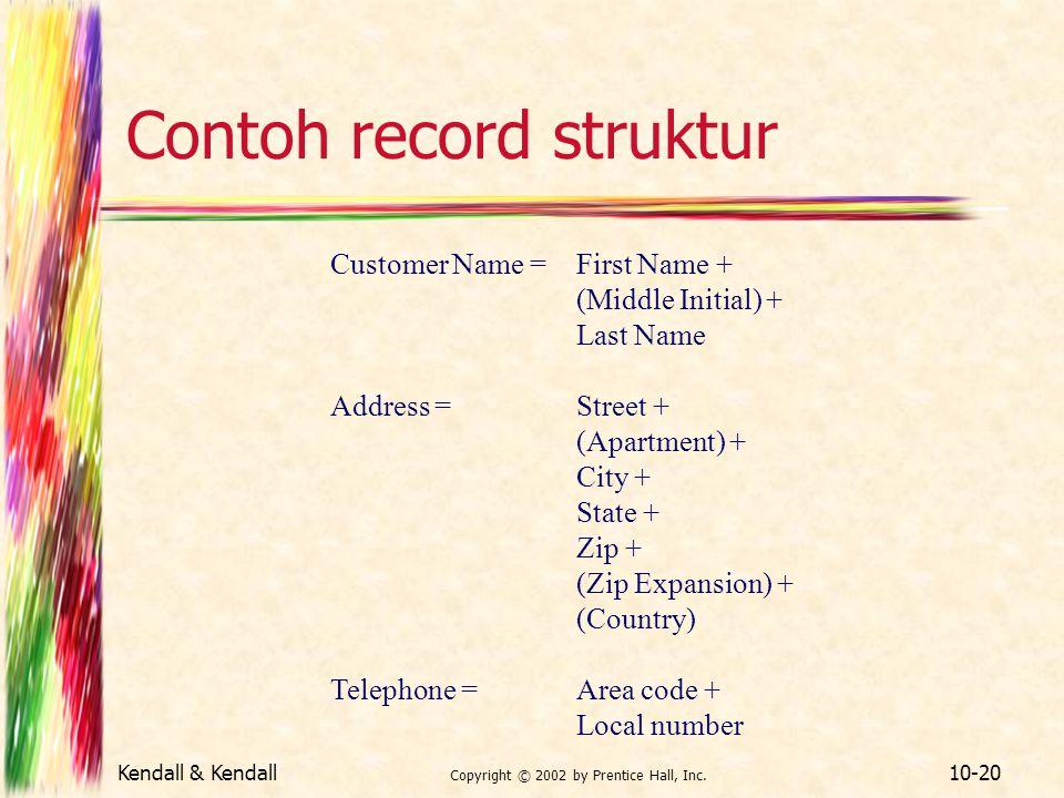 Contoh record struktur