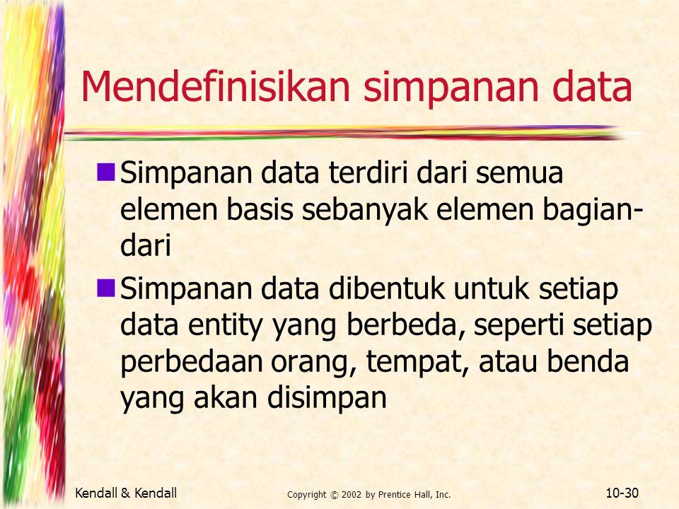 Mendefinisikan simpanan data
