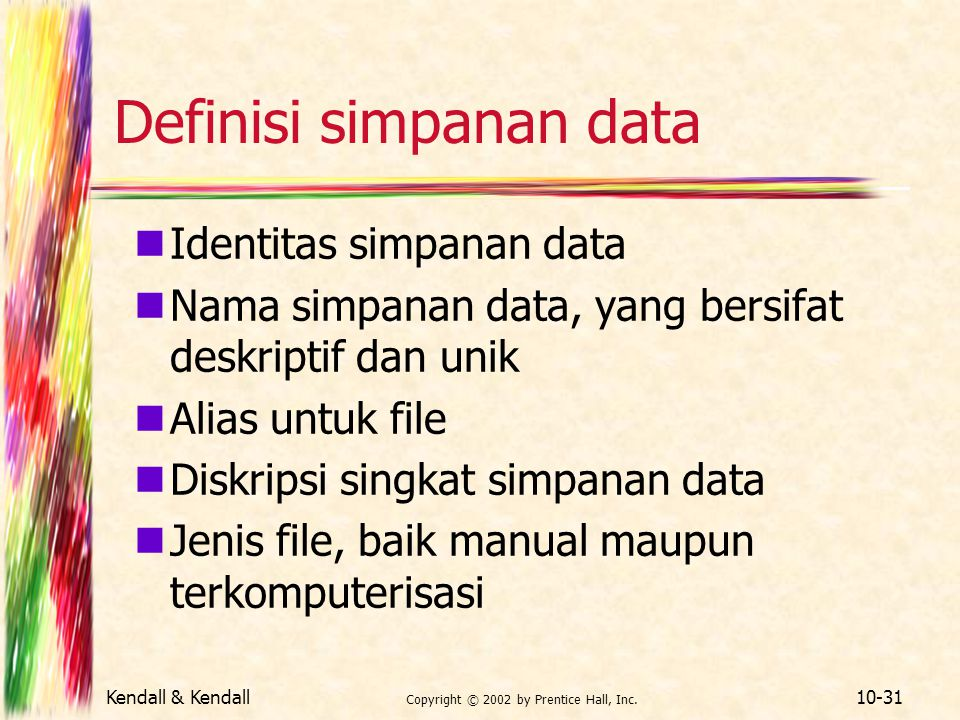 Definisi simpanan data