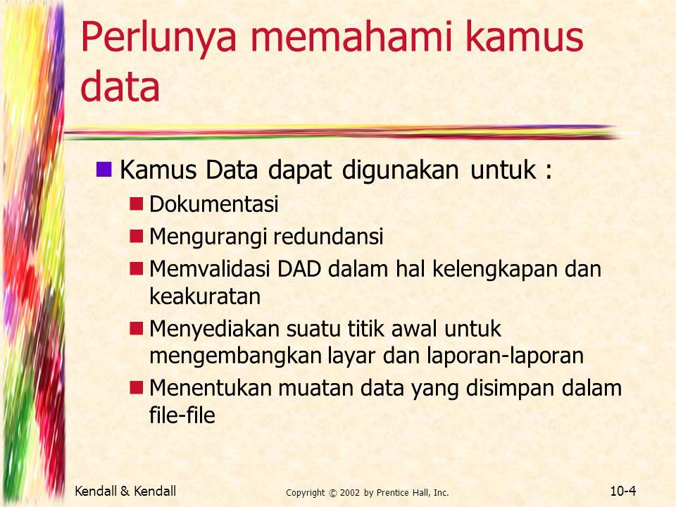 Perlunya memahami kamus data