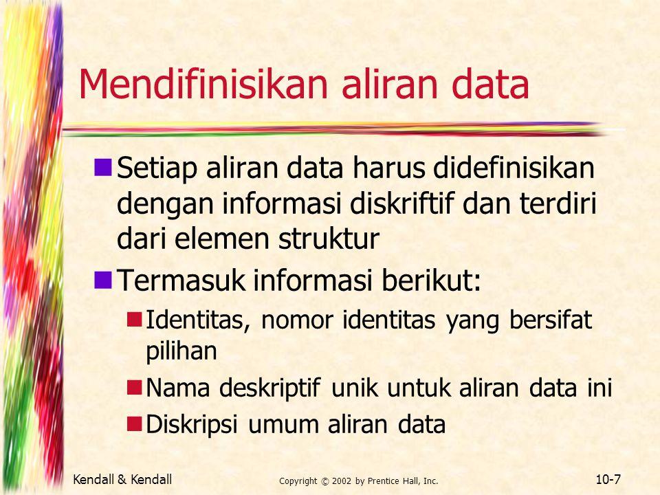 Mendifinisikan aliran data