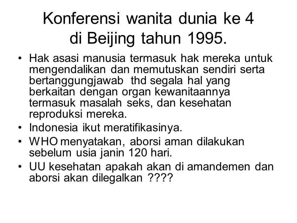 Konferensi wanita dunia ke 4 di Beijing tahun 1995.